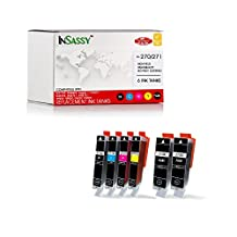 InSassy 6 Pack PPGI-270XL CLI-271XL PGI 270 XL CLI 271 XL Compatible Ink Cartridge - Replacement for PIXMA MG7720 MG6820 MG6821 MG6822 MG5720 MG5721 MG5722 TS9020 TS8020 TS6020 TS5020