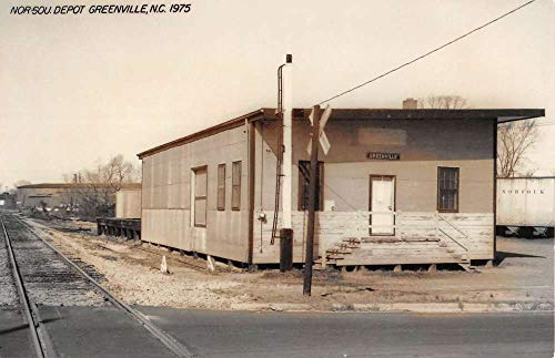 Greenville North Carolina SOU Railroad Depot Real Photo Vintage Postcard K105824