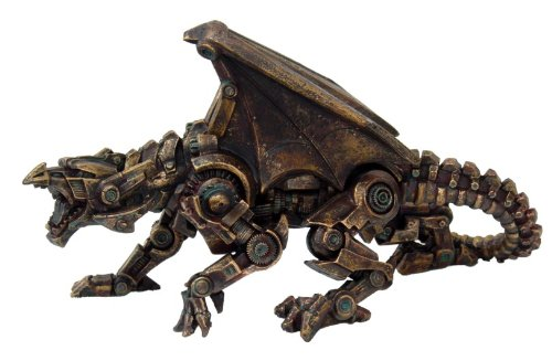 Steampunk Collection- Steampunk Dragon Sculptures Figurine 3