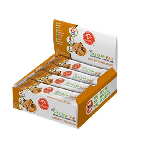 D's Naturals No Cow Bar Peanut Butter Chocolate Chip, 12 Bars, Net Wt. 25.44 Oz.