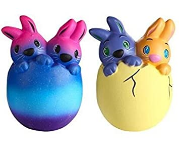 Amazon slow rising easter bunny squishies 2 pack jumbo easter slow rising easter bunny squishies 2 pack jumbo easter gifts rabbit squishysoft scented toys negle Image collections