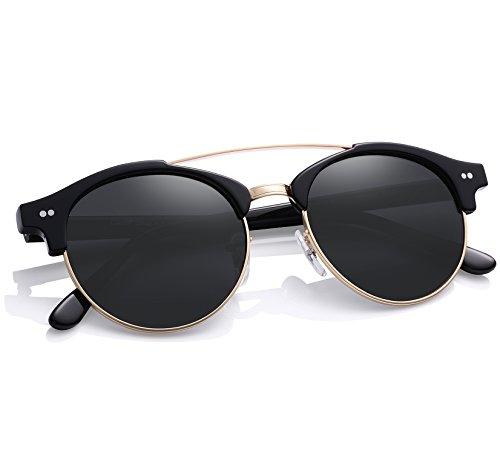 Round Sunglasses - Carfia Fashion Polarized Sunglasses for Women, 100% UV400 - De Gafas Sol Mujer Para