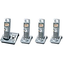 Panasonic Dect 6.0 Series 4 Handset Cordless Phone System with Answering System (KX-TG1034S)