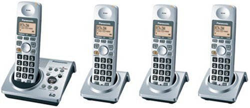 Panasonic Dect 6.0 Series (Panasonic Dect 6.0 Series 4 Handset Cordless Phone System with Answering System (KX-TG1034S))