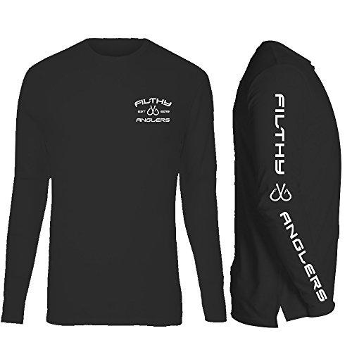 Fishing Sleeve Cotton Long Shirt (Filthy Anglers Fishing Tshirt Long Sleeve Cotton for Men and Women (X-Large, Black))