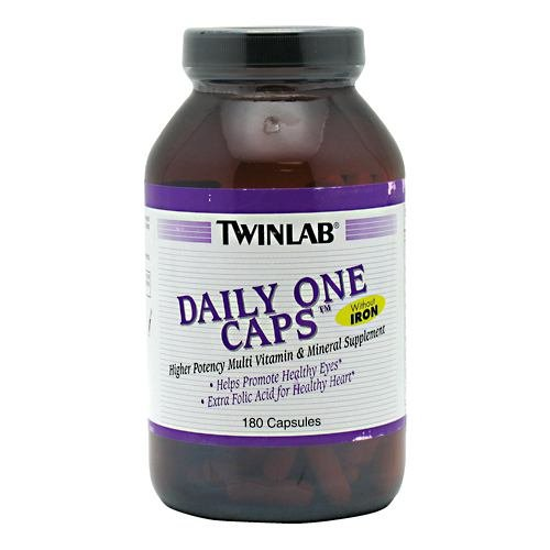 (Daily One, No Iron 180 Caps by Twinlab (Pack of 3))