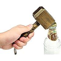 Bayram Thor Hammer Bottle Opener | Beer Opener Big Perfect gift Bar Wine Mjolnir Bronze 16.5x7cm (Bronze)