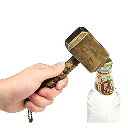 Bayram Thor Hammer Bottle Opener | Beer Opener Big Bar Wine Mjolnir Bronze 16.5x7cm (Bronze) (Beer Hammer)