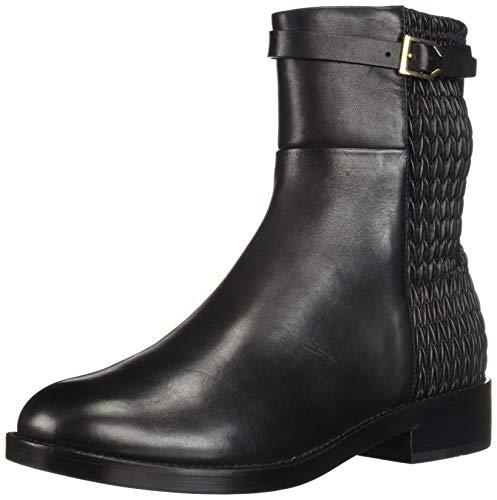 Cole Haan Women's Lexi Grand Stretch Strap Boot Mid Calf, Black Leather/WEAV, 7.5 B ()