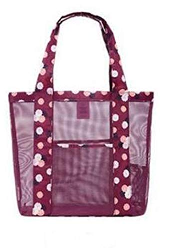 - ANANXILA Fashion Women Jelly Crystal Transparent Beach Bag Shoulder Bag Big Handbag Red