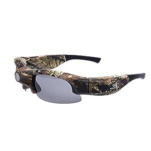 WoSports Action Camera Glasses 1080P HD Video Recording Sport Sunglasses DVR Eyewear (Camo)