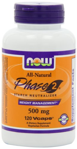 NOW Foods Phase 2 Starch Neutralizer 500mg, 120 Vegetarian Capsules