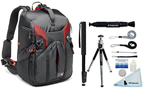 Manfrotto Phantom Backpack for DSLR, Lenses or Canon EOS C100 Mark II Cinema EOS Camera + Accessories & DJI Quadcopter Drone Phantom 4 + Gimbal or Phantom FC40 And a 15'' Laptop by Manfrotto
