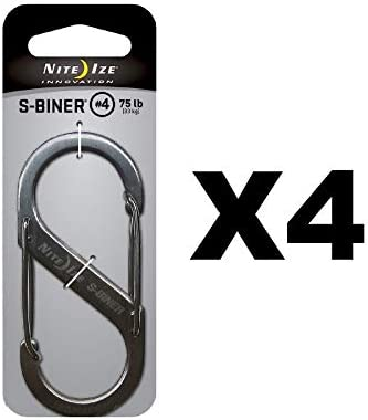 Nite Ize S Biner Stainless Dual Gated