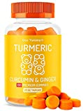 Turmeric Curcumin & Ginger  (100 Gummies Value Pack) Anti-Inflammatory, Antioxidant, Anti-Aging, Joint Pain & Stiffness Relief Supplements to - Vegetarian & Gluten Free - for Adults & Children