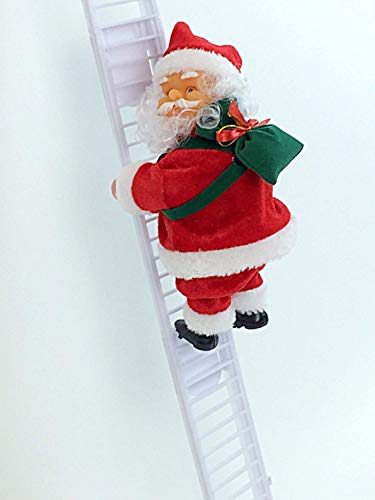 new family collection Electric Christmas Santa Climbing Ladder Santa Claus Creative Musical Xmas Doll Sing Christmas Songs Party Decoration