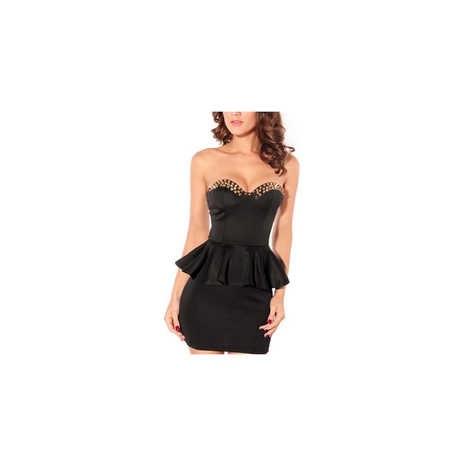 Dear lover Womens V Neck Dress S Black