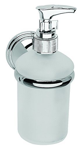 Croydex Westminster Soap Dispenser - Chrome & Glass QM206641 Bathroom Fittings Bathroom_Accessories Soap_Holders_Dispensers