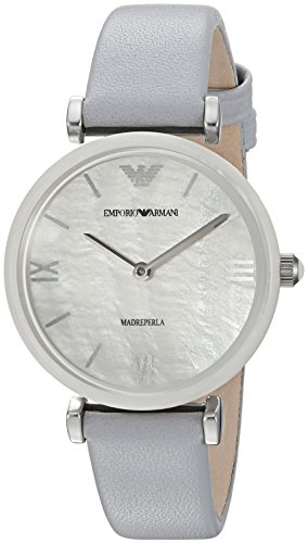 (Emporio Armani Women's Quartz Stainless Steel Casual Watch, Color:Blue (Model: AR11039))
