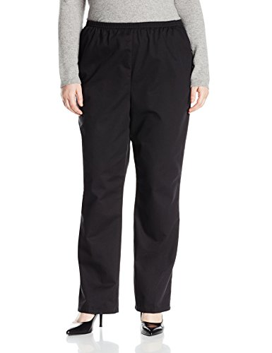 Chic Classic Collection Women's Plus Size Stretch Elastic Waist Pull-on Pant, Black Twill, 18W (Jeans Black Twill)