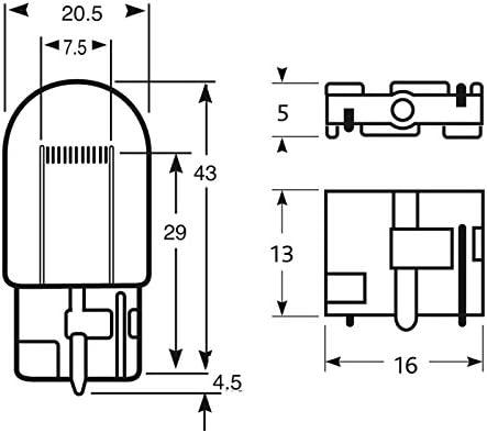 Prius 3 Clignotants Avant Pack 2 Ampoules WY21W Chrom/é