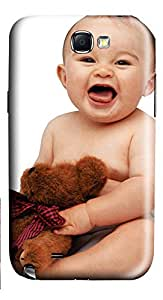 Samsung Galaxy Note II N7100 Cases & Covers - Cute Baby With Dolls Custom PC Soft Case Cover Protector for Samsung Galaxy Note II N7100