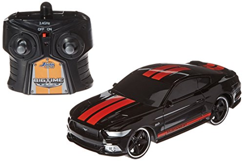 Jada Toys BTM Radio Control 2015 Ford Mustang GT Vehicle, Black, 7.5""