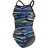 Dolfin Swimwear Styx V-2 Back - Blue/Green, 28
