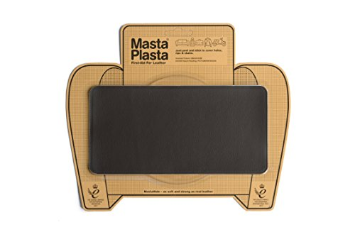 MastaPlasta Leather Repair Patch Firstaid for Sofas Car Seats Handbags Jackets etc Dark Brown Color Plain 8 inch by 4 inch Designs (Finest Italian Design Furniture)