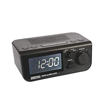 Daewoo DCR-48B Reloj Digital Negro - Radio (Reloj, Digital, FM, LED, Negro, 9 V): Amazon.es: Electrónica