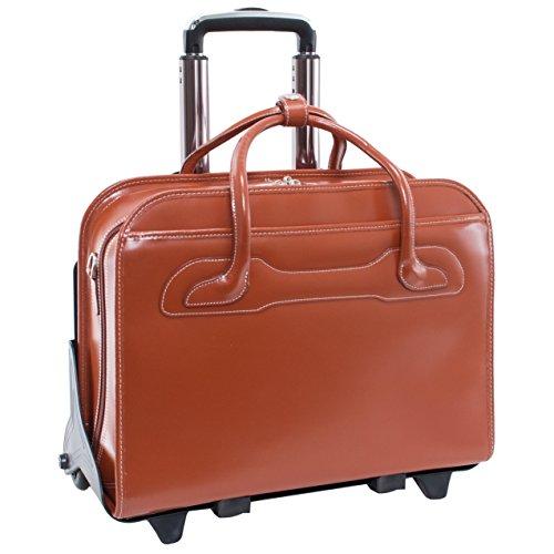 McKlein WILLOWBROOK Brown Detachable-Wheeled Ladies' Briefcase (94984)