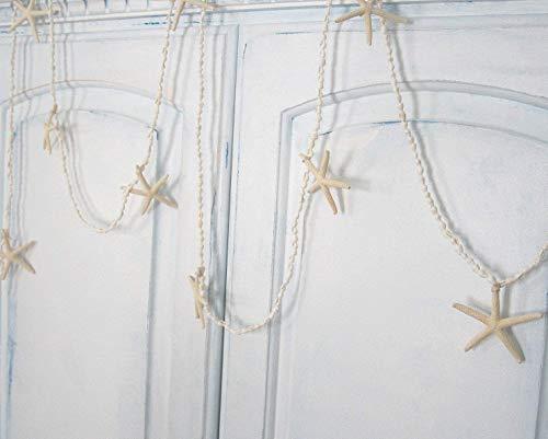 Beach Nautical Decor Tiny White Nassa Seashell and Starfish Garland, ()