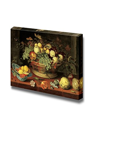 Wall26 - Still Life with a Basket of Fruit by Balthasar Van Der Ast - Canvas Print Wall Art Famous Painting Reproduction - 16