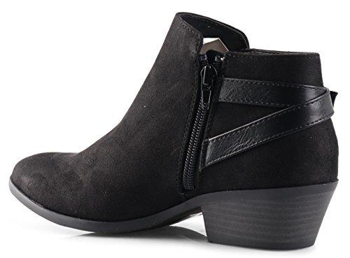 SODA Faux Stacked Heel Western Bootie 10
