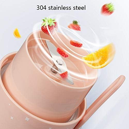300ML Blender Personnel, Coupe Juicer Portable/électrique Fruit Mixer/jus USB Blender, Rechargeable, pour Smoothie et Milkshake,Rose
