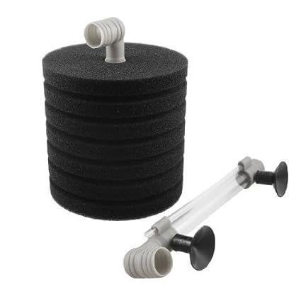 eDealMax Jardin DE 7 capas de la esponja Suave filtro bioquímico Para el acuario, Negro