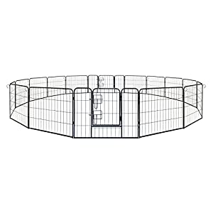 Aleko Heavy Duty Pet Playpen 16 Panel Dog Kennel Exercise Cage Fence 80cm x 60cm Click on image for further info.