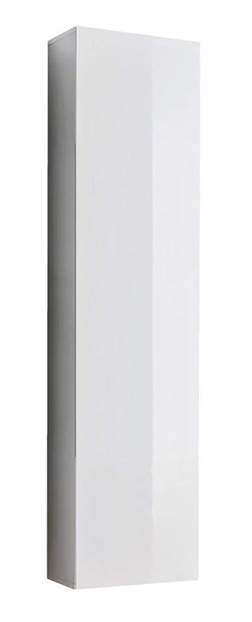 muebles bonitos Mobile pensile sospeso Moderno Modello Amalfi Bianco, Anta  Lucida - Larghezza: 40cm x Altezza: 170cm x profondità: 29 cm Lettiemobili