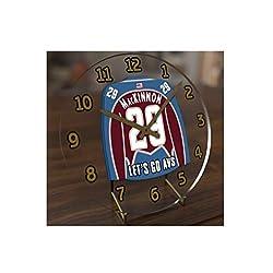 USA Hockey Legends Table Clocks - 7 X 7 X 2 N H L Jersey Themed Limited Edition Legend Desktop Clocks ! (N.MacKinnon 29 COL Edition)