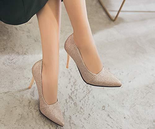 Escarpins Or Basse Bout Femme Aisun Mode Bling Pointu Paillettes 04fvPq8f