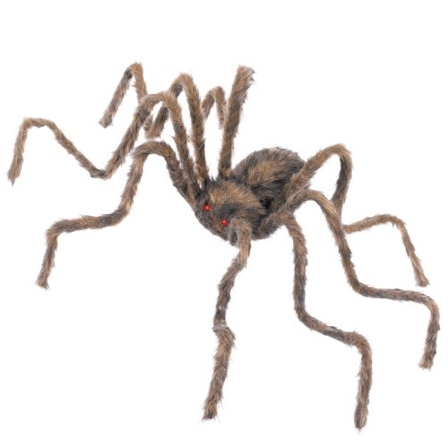 50 Inch Posable Furry Spider (Assorted Colors) -