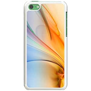 Apple iPhone 5C Cases Customized Gifts Of 3D Graphics Waves 3d Abstract White