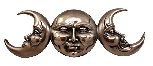 - Ebros Triple Goddess Moon Mother Maiden Crone Hanging Wall Decor Sculpture Plaque Figurine 15.25