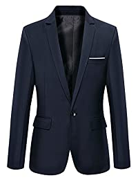 Oncefirst Mens Classical One-button Blazer