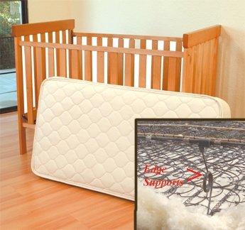 Organic Wool/Cotton Crib 242 Coil Mattress 28x52 by SalusAtHome Organics