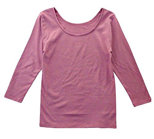 遠赤外線加工 婦人長袖Tシャツ肌着 レディース長袖ヒートインナー 7分丈袖