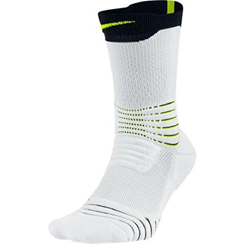 Nike Elite Versatility Crew Basketball Socks #SX5372-100(L)