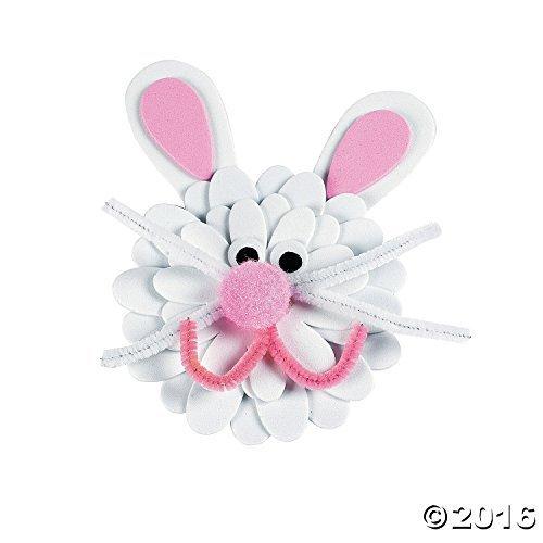 Flower Bunny Magnet Craft Kit - 12 Bunny Magnets