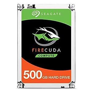 Seagate FireCuda - Disco duro  interno SSHD de 500 GB para PC y PS4 (2,5', 7 mm de forma, 64 MB de caché SATA 6 GB/s hasta 140 MB/s), Negro