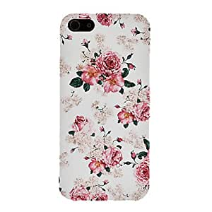 WEV Elegant Peony Pattern PC Hard Case for iPhone 5/5S